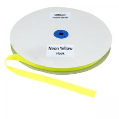 "5/8"" - DuraGrip Brand Sew-On Hook - Neon Yellow DG58NYHS"