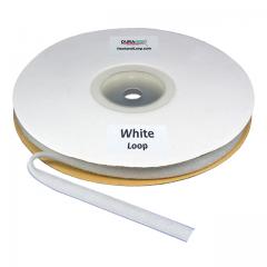 "Duragrip 1"" White Loop Acrylic"