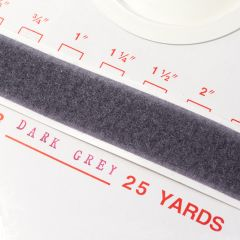 "1.5"" - DuraGrip brand Peel & Stick Loop: Rubber - Dark Gray DG15DGLR"