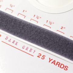 "2"" - DuraGrip brand Peel & Stick Loop: Rubber - Dark Gray DG20DGLR"