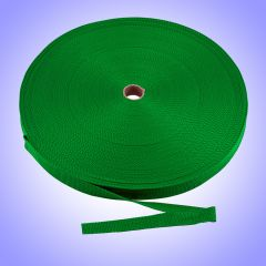 "1.5""  - DuraGrip brand Lightweight Polypropylene Webbing - Green DG15GRWEBB-LW"