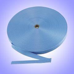 "1.5""  - DuraGrip brand Lightweight Polypropylene Webbing - Light Blue DG15LBWEBB-LW"
