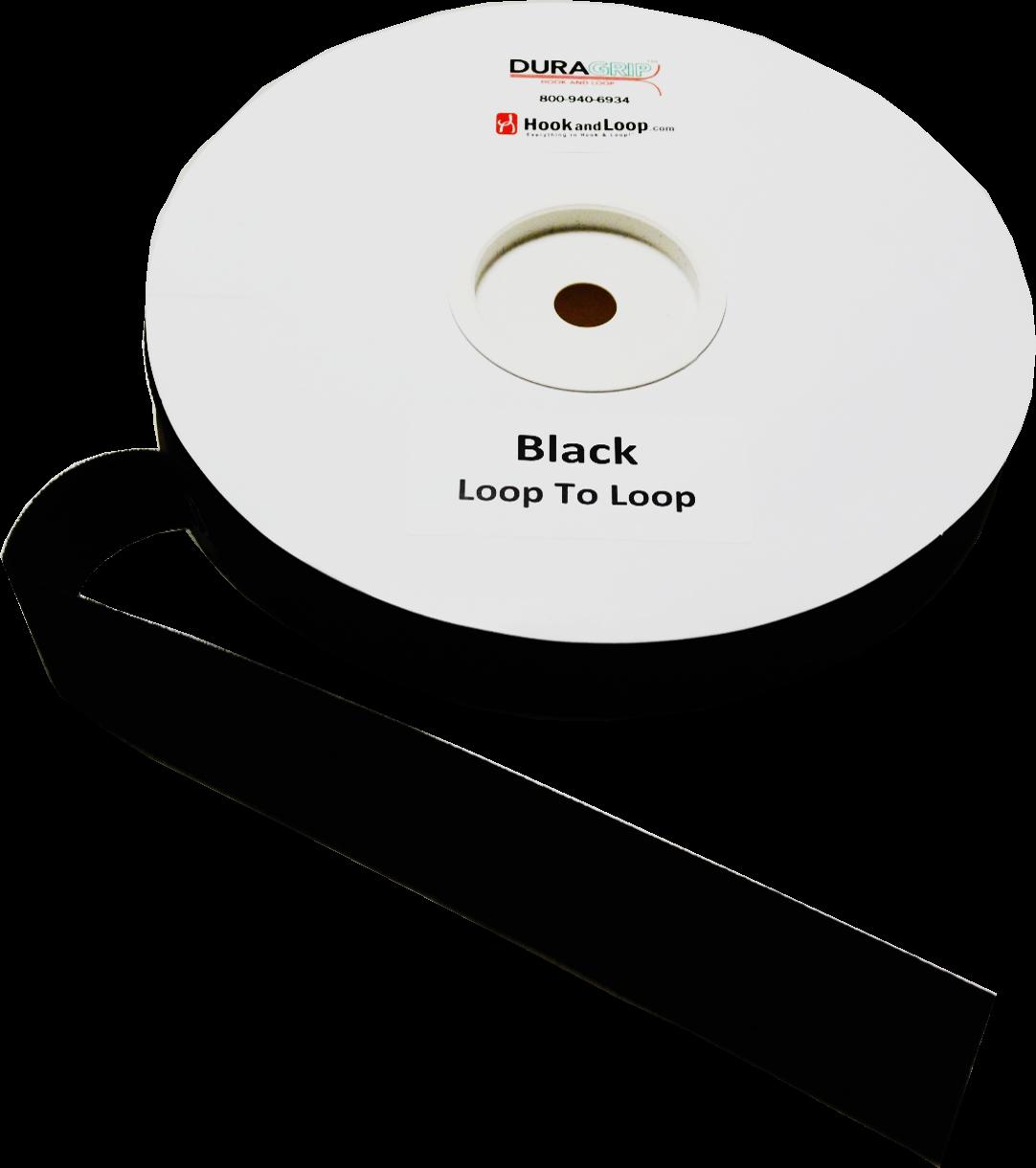 """1.5"""" Black Hook To Loop"""