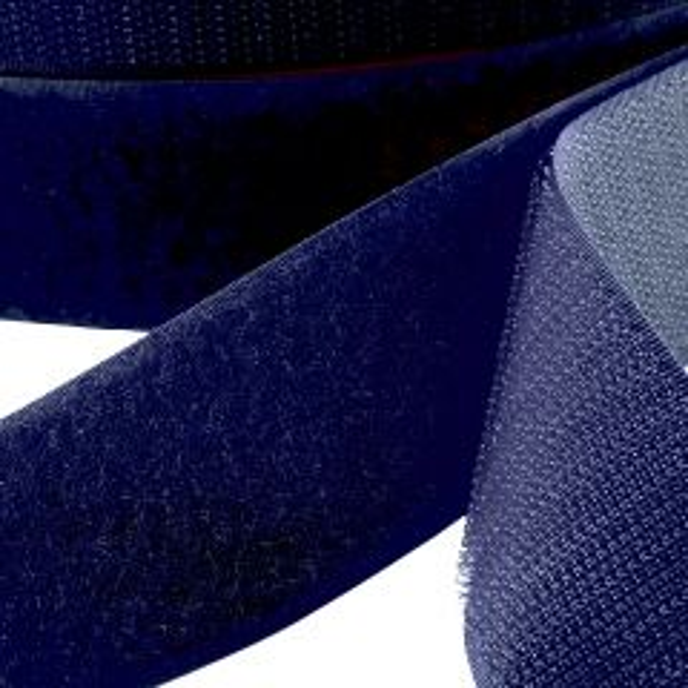 "1.5"" - DuraGrip brand Peel & Stick Loop: Rubber - Navy Blue DG15NBLR"