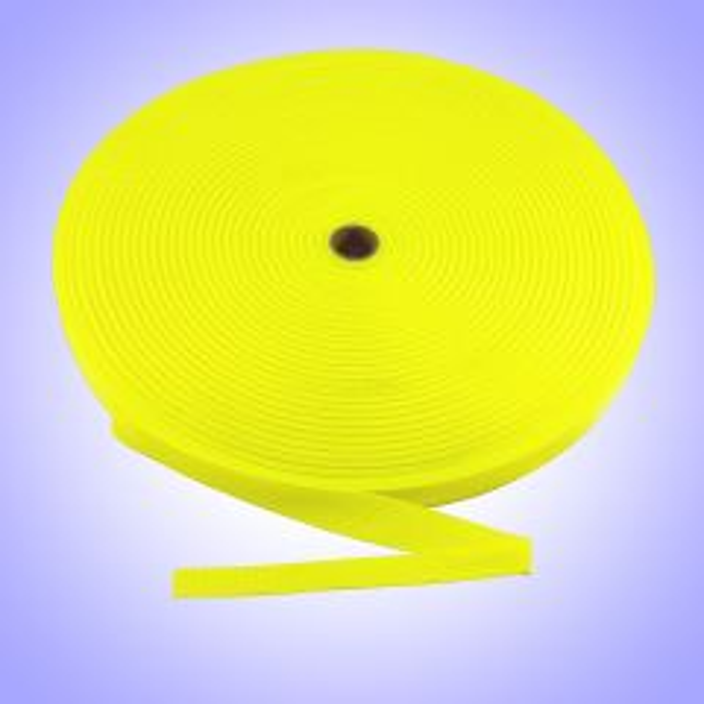 "1""  - DuraGrip brand Lightweight Polypropylene Webbing - Neon Yellow DG10NYWEBB-LW"