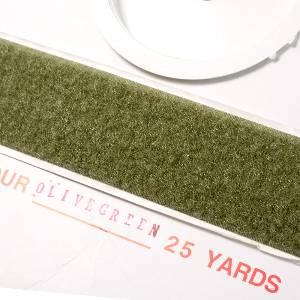 "1"" - DuraGrip brand Peel & Stick Loop: Rubber - Olive Drab DG10ODLR"