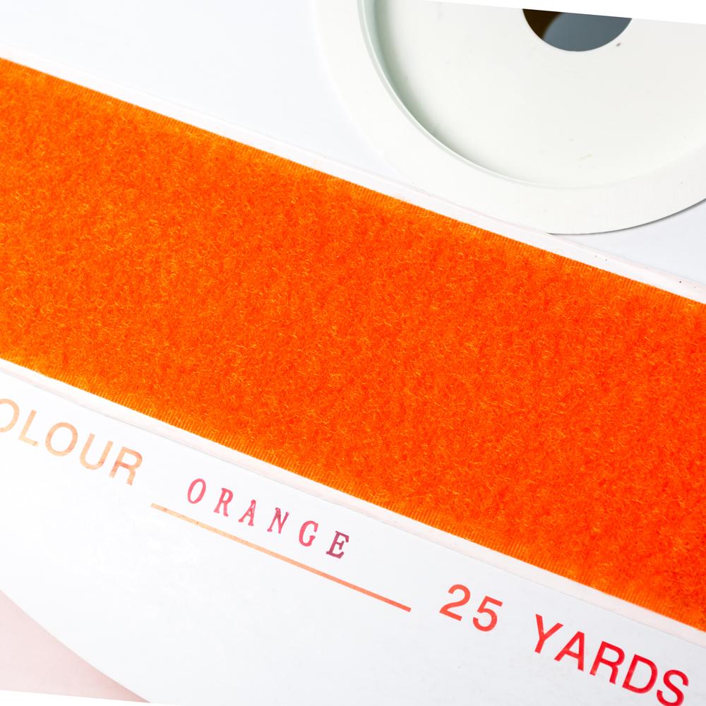 "1.5"" - DuraGrip brand Peel & Stick Loop: Rubber - Orange DG15ORLR"