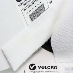 "1"" - VELCRO® Brand Loop 3610 Knit Nylon Sew-On - White"