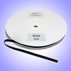 "1/2"" - DuraGrip brand Peel & Stick Hook: Rubber - Black DG12BLHR"