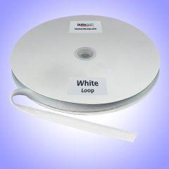 "3/8"" - DuraGrip brand Peel & Stick Loop: Rubber - White DG38WHLR"
