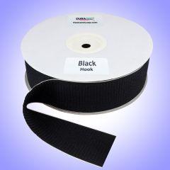 "3"" - DuraGrip brand Peel & Stick Hook: Rubber - Black DG30BLHR"