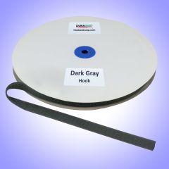 "5/8"" - DuraGrip Brand Sew-On Hook - Dark Gray DG58DGHS"