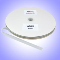 "5/8"" - DuraGrip brand Sew-On Polyester Hook - White DG58WHHPOLY"