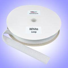 "1.5"" - DuraGrip brand Sew-On Polyester Loop - White DG15WHLPOLY"