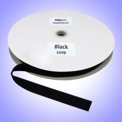 "1"" - DuraGrip brand Sew-On Polyester Loop - Black DG10BLLPYS"
