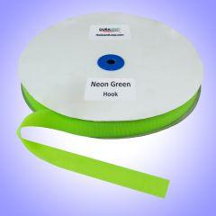 "1"" - DuraGrip Brand Sew-On Hook - Neon Green DG10NGHS"