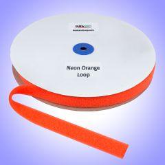 "1"" - DuraGrip Brand Sew-On Loop - Neon Orange DG10NOLS"