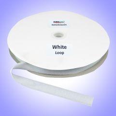 "1"" - DuraGrip brand Sew-On Polyester Loop - White DG10WHLPLY"