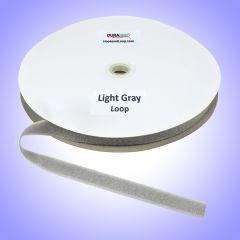 "3/4"" - DuraGrip Brand Sew-On Loop - Light Gray DG34LGLS"