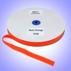 "3/4"" - DuraGrip Brand Sew-On Loop - Neon Orange DG34NOLS"