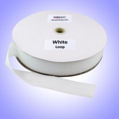 "2"" - DuraGrip brand Sew-On Polyester Loop - White DG20WHLPLY"