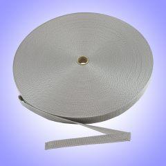 """1.5"""" - DuraGrip brand Heavyweight Polypropylene Webbing - Silver DG15SILWEBB-HW"""