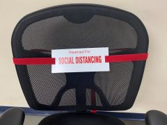 Social Distancing Chair Strap-Burgundy