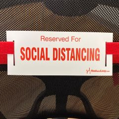 Social Distancing Strap-Red