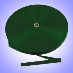 """2"""" - DuraGrip brand Heavyweight Polypropylene Webbing - Dark Green DG20DARKGRWEBB-HW"""