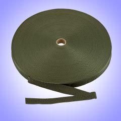 "1.5""  - DuraGrip brand Lightweight Polypropylene Webbing - Olive DG15ODWEBB-LW"