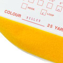 """1"""" - DuraGrip brand Peel & Stick Loop: Rubber - Yellow DG10YWLR"""