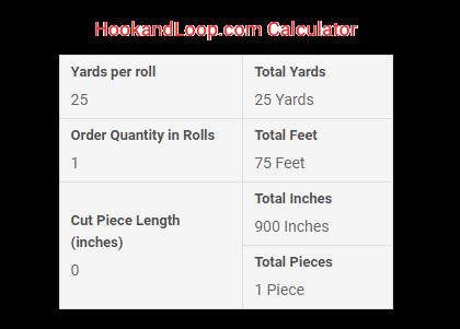 Our HookandLoop.com Calculator